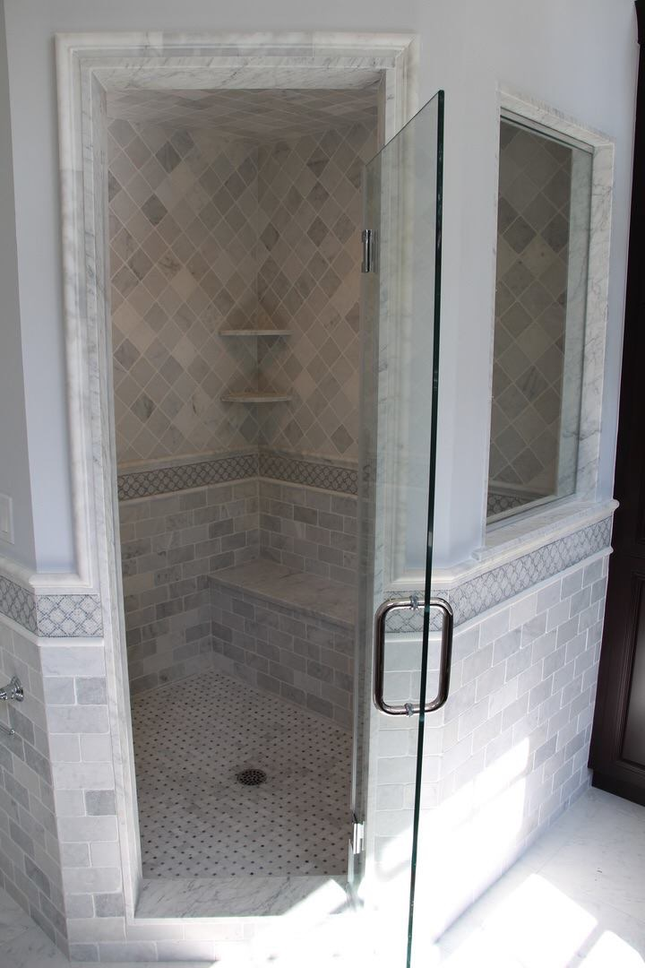 White Carrara Shower