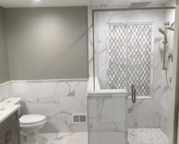 Porcelain Marble Tile Bathroom