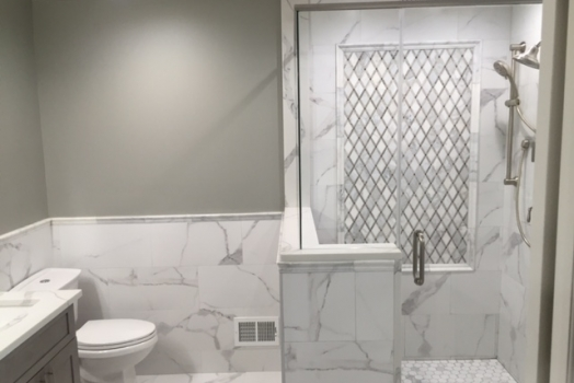 Porcelain Marble Tile Bathroom