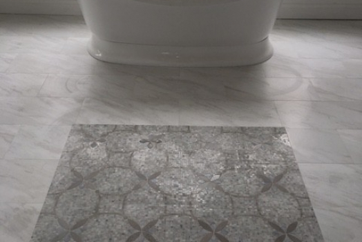 12×24 Porcelain with Beautiful Marble Mosaic