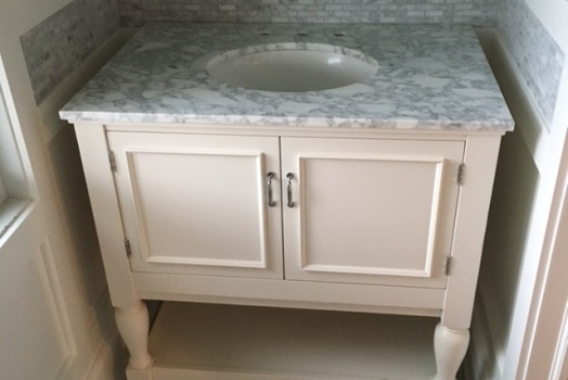 White Carrara Hexagon and Mosaic